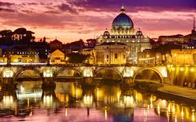 Picture of Rome at night